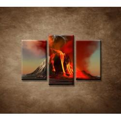 Obrazy na stenu - Sopka - 3dielny 75x50cm