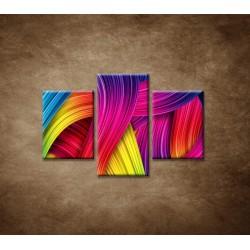 Obrazy na stenu - Farebné pozadie - 3dielny 90x60cm