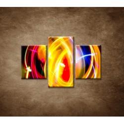 Obrazy na stenu - Disco svetlo - 3dielny 90x60cm