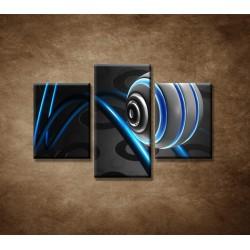 Obrazy na stenu - 3D guľa - 3dielny 90x60cm