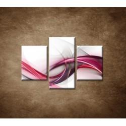 Obrazy na stenu - Ružová vlna - 3dielny 90x60cm