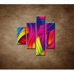 Obrazy na stenu - Farebné pozadie - 4dielny 80x90cm