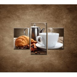 Obrazy na stenu - Raňajky - 3dielny 90x60cm