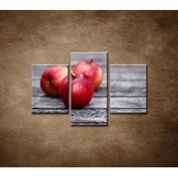 Obrazy na stenu - Červené jablká  - 3dielny 90x60cm
