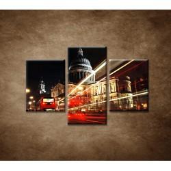 Obrazy na stenu - Nočný Londýn - 3dielny 90x60cm