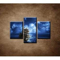 Obrazy na stenu - Búrka na mori - 3dielny 90x60cm
