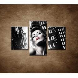 Obrazy na stenu - Sexi žena v meste - 3dielny 90x60cm