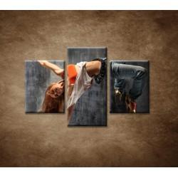 Obrazy na stenu  - Tanečnica - 3dielny 90x60cm