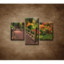 Obrazy na stenu - Jesenný park  - 3dielny 90x60cm