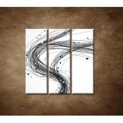 Obrazy na stenu - Abstraktné čiary - 3dielny 90x90cm