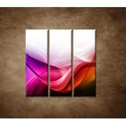 Obrazy na stenu - Farebná vlna - 3dielny 90x90cm