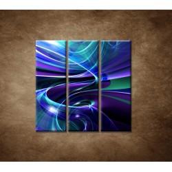 Obrazy na stenu - Modré abstraktné pozadie - 3dielny 90x90cm