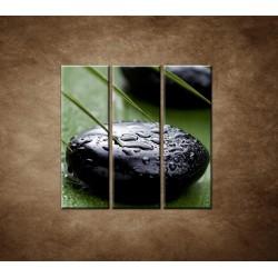 Obrazy na stenu - Čierny kameň - 3dielny 90x90cm