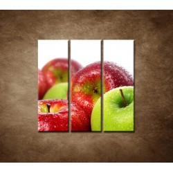 Obrazy na stenu - Červené a zelené jablká - 3dielny 90x90cm