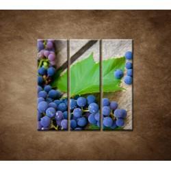 Obrazy na stenu - Modré hrozno - 3dielny 90x90cm