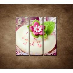 Obrazy na stenu - Svadobné koláčiky - 3dielny 90x90cm