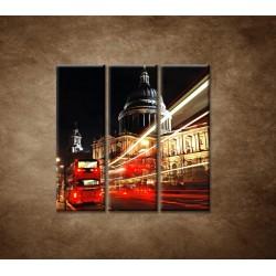 Obrazy na stenu - Nočný Londýn - 3dielny 90x90cm