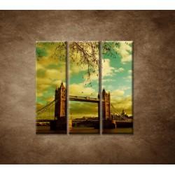 Obrazy na stenu - Londýn - Tower Bridge - 3dielny 90x90cm