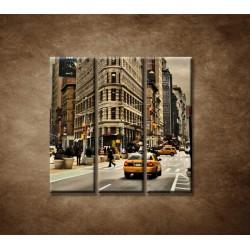 Obrazy na stenu - Žehlička - New York - 3dielny 90x90cm