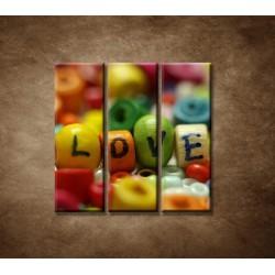 Obrazy na stenu - Love - 3dielny 90x90cm
