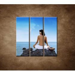 Obrazy na stenu - Relax pri mori - 3dielny 90x90cm