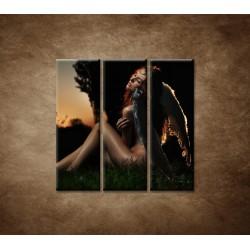 Obrazy na stenu - Anjel - 3dielny 90x90cm