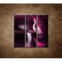 Obrazy na stenu - Žena so šatkou - 3dielny 90x90cm