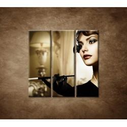 Obrazy na stenu - Žena s cigaretou - 3dielny 90x90cm