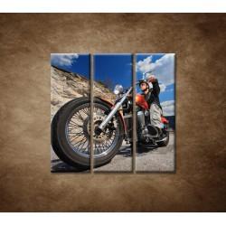 Obrazy na stenu - Motorkár - 3dielny 90x90cm