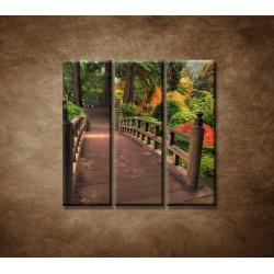 Obrazy na stenu - Jesenný park - 3dielny 90x90cm