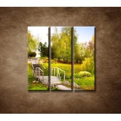 Obrazy na stenu - Zelený park - 3dielny 90x90cm