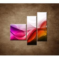 Obrazy na stenu - Farebná vlna - 3dielny 110x90cm