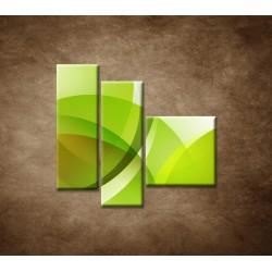 Obrazy na stenu - Zelená abstrakcia - 3dielny 110x90cm
