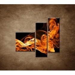 Obrazy na stenu - Oheň a dym - 3dielny 110x90cm