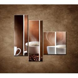 Obrazy na stenu - Šálka kávy - 3dielny 110x90cm
