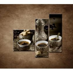 Obrazy na stenu - Kanvica kávy - 3dielny 110x90cm