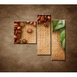 Obrazy na stenu - Kávové zátišie - 3dielny 110x90cm