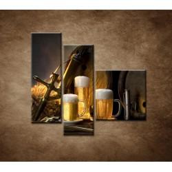 Obrazy na stenu - Pivný raj - 3dielny 110x90cm