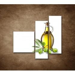Obrazy na stenu - Olivový olej - 3dielny 110x90cm