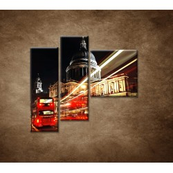 Obrazy na stenu - Nočný Londýn - 3dielny 110x90cm