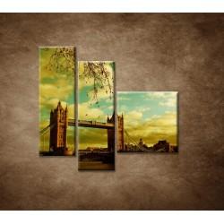 Obrazy na stenu - Londýn - Tower Bridge - 3dielny 110x90cm