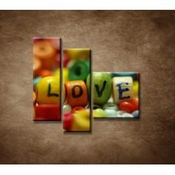 Obrazy na stenu - Love - 3dielny 110x90cm