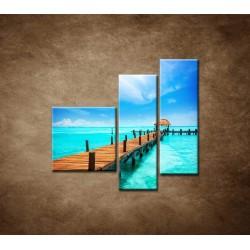 Obrazy na stenu - Mólo - 3dielny 110x90cm