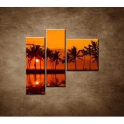 Obrazy na stenu - Červené zore nad morom - 3dielny 110x90cm
