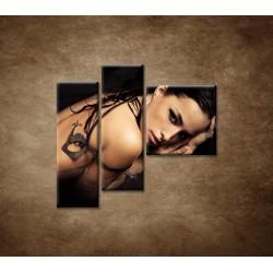 Obrazy na stenu - Zmyselná žena - 3dielny 110x90cm