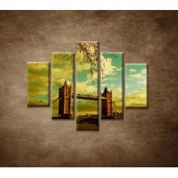Obrazy na stenu - Londýn - Tower Bridge - 5dielny 100x80cm