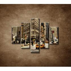 Obrazy na stenu - Žehlička - New York - 5dielny 100x80cm