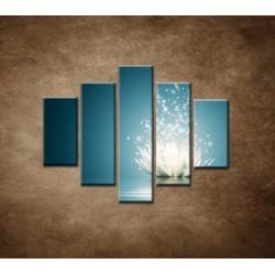 Obrazy na stenu - Lekno na vode - 5dielny 100x80cm