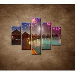 Obrazy na stenu - Oslavy na ostrove - 5dielny 100x80cm