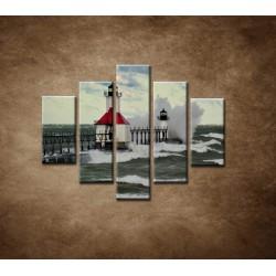 Obrazy na stenu - Maják po búrke - 5dielny 100x80cm